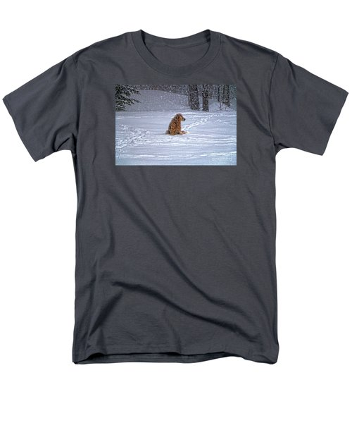 January Blizzard Men's T-Shirt  (Regular Fit) by Elizabeth Dow