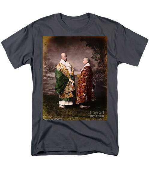 Japanese Zen Buddhist Priests Circa 1880 Men's T-Shirt  (Regular Fit) by Peter Gumaer Ogden