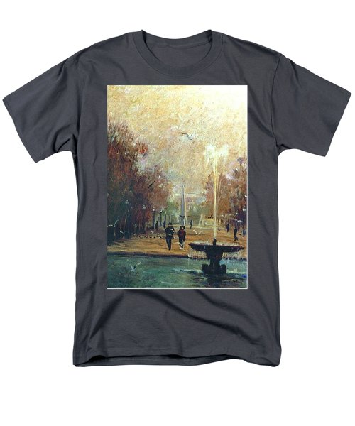 Men's T-Shirt  (Regular Fit) featuring the painting Jardin Des Tuileries by Walter Casaravilla