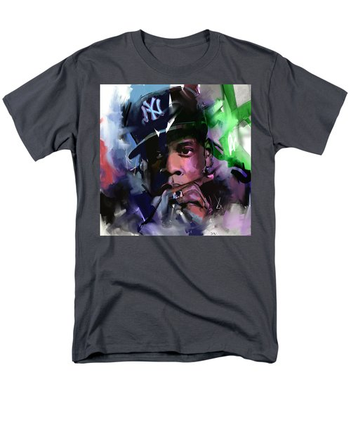 Men's T-Shirt  (Regular Fit) featuring the painting Jay Z by Richard Day