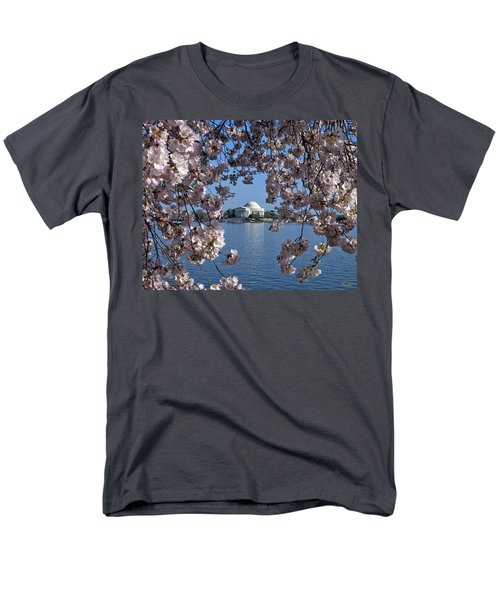 Jefferson Memorial On The Tidal Basin Ds051 Men's T-Shirt  (Regular Fit) by Gerry Gantt