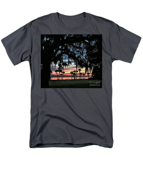 Jekyll Island Georgia Sunset Men's T-Shirt  (Regular Fit) by Walt Foegelle
