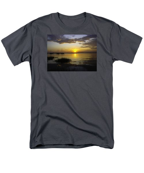 Jekyll Island Sunset Men's T-Shirt  (Regular Fit) by Elizabeth Eldridge