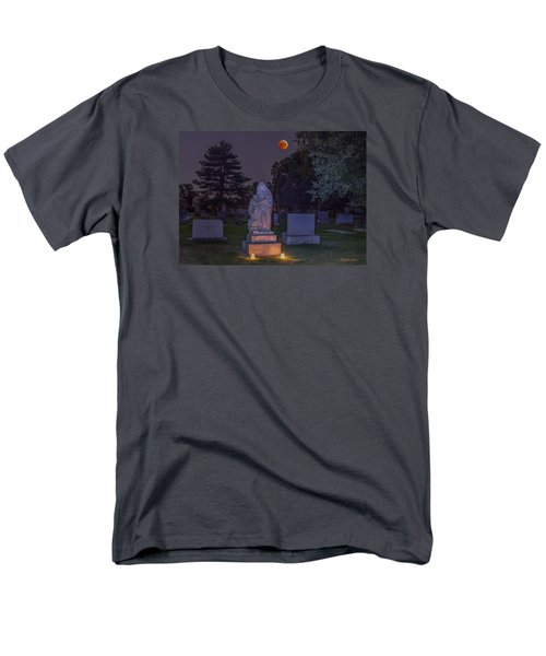 Jessie Monument Under The Blood Moon Men's T-Shirt  (Regular Fit) by Stephen  Johnson