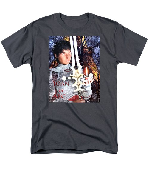 Men's T-Shirt  (Regular Fit) featuring the painting Joan , Light Of France by Suzanne Silvir