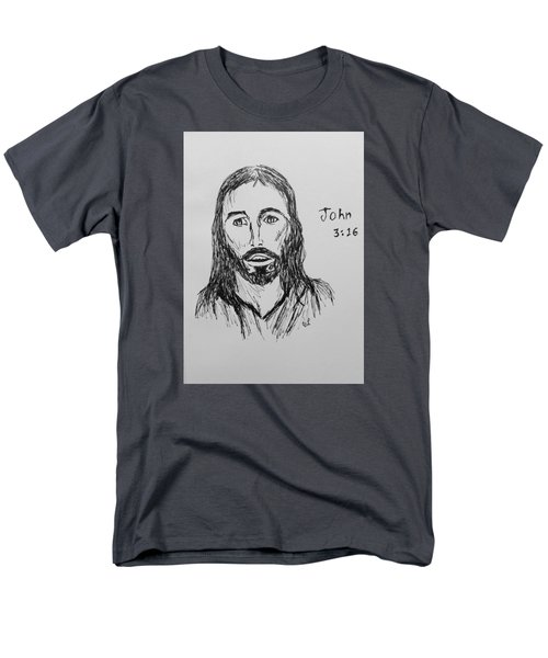 John 3 16 Men's T-Shirt  (Regular Fit) by Victoria Lakes
