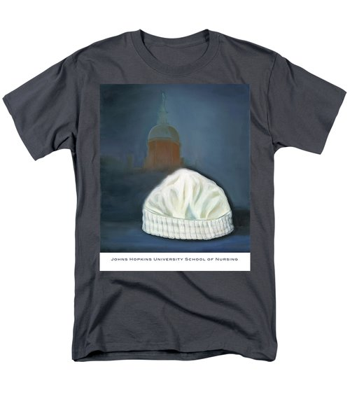 Men's T-Shirt  (Regular Fit) featuring the painting Johns Hopkins University School Of Nursing by Marlyn Boyd
