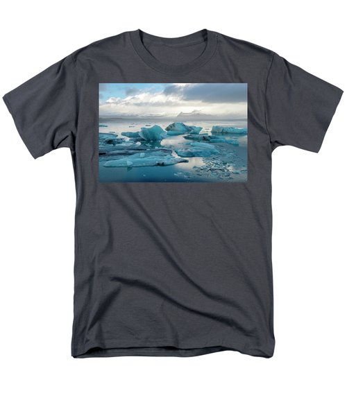 Jokulsarlon, The Glacier Lagoon, Iceland 6 Men's T-Shirt  (Regular Fit) by Dubi Roman