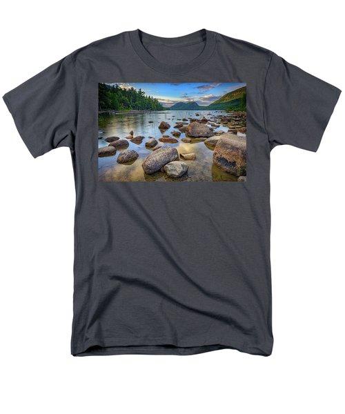 Jordan Pond And The Bubbles Men's T-Shirt  (Regular Fit) by Rick Berk