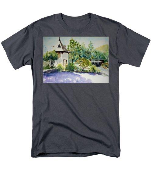 Jose Moya Del Pino Library At Marin Arts And Garden Center Men's T-Shirt  (Regular Fit) by Tom Simmons