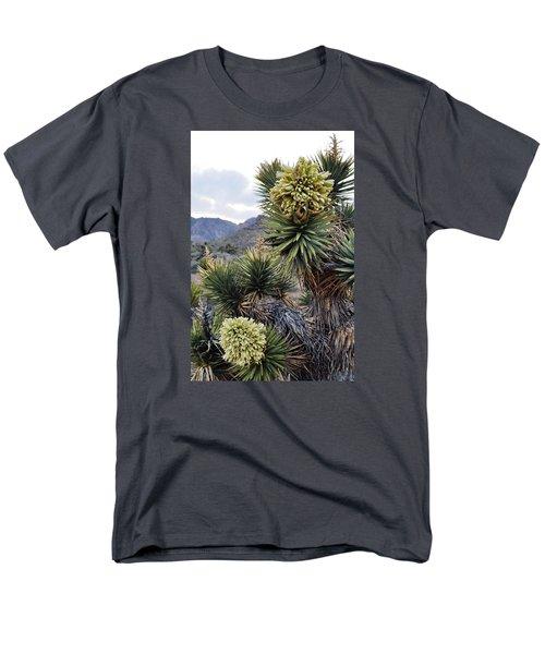Joshua Tree Bloom Rainbow Mountain Men's T-Shirt  (Regular Fit) by Kyle Hanson
