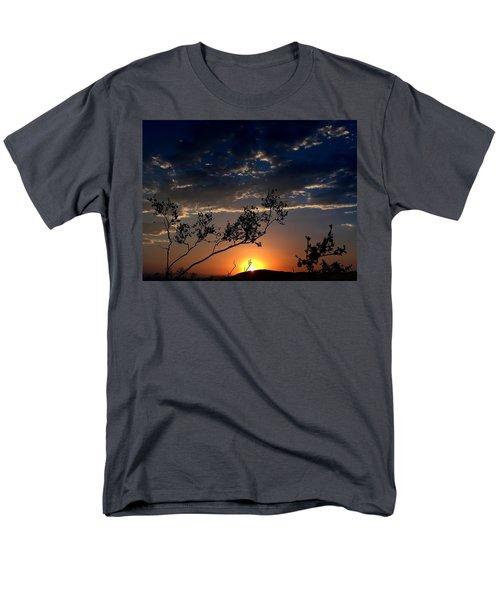 Joshua Tree Sunset Men's T-Shirt  (Regular Fit) by Chris Tarpening