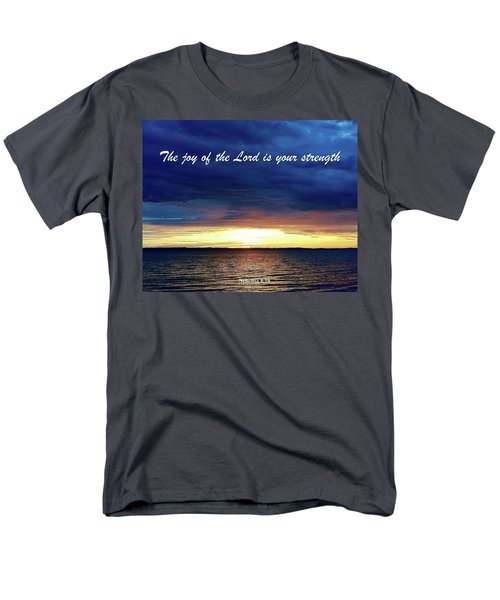 Joy Of The Lord Men's T-Shirt  (Regular Fit) by Russell Keating