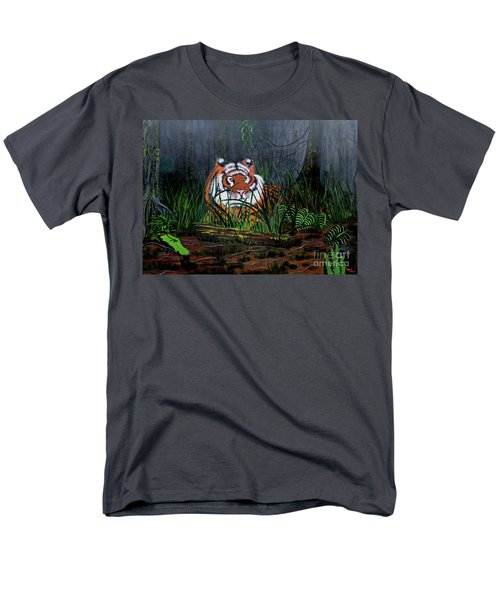 Men's T-Shirt  (Regular Fit) featuring the painting Jungle Cat by Myrna Walsh