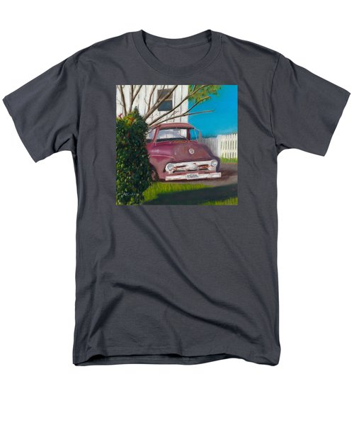 Men's T-Shirt  (Regular Fit) featuring the painting Just Up The Road by Arlene Crafton