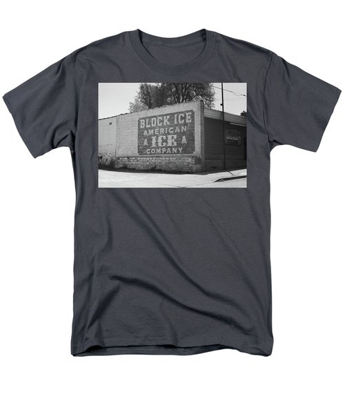 Men's T-Shirt  (Regular Fit) featuring the photograph Kansas City Ghost Mural Bw by Frank Romeo