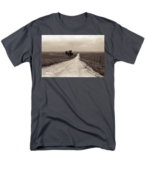 Kansas Country Road Men's T-Shirt  (Regular Fit) by Thomas Bomstad