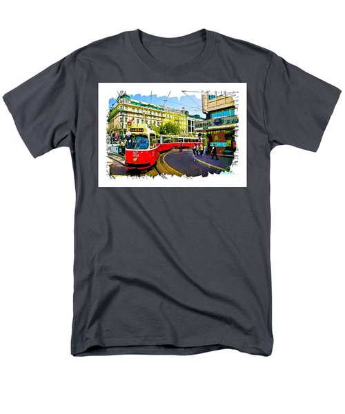 Men's T-Shirt  (Regular Fit) featuring the photograph Kartner Strasse - Vienna by Tom Cameron