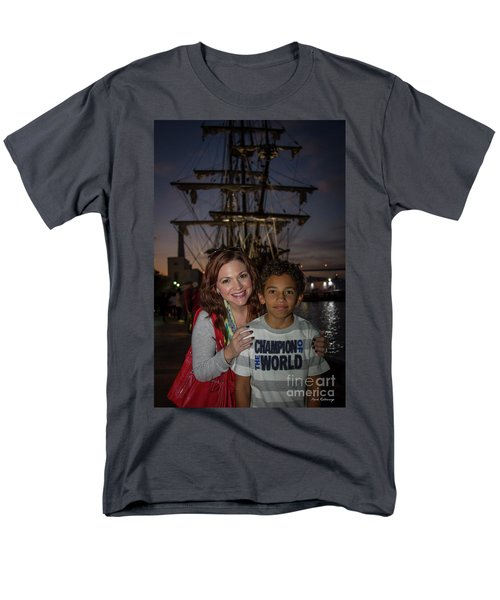 Men's T-Shirt  (Regular Fit) featuring the photograph Katy And Baby James Art by Reid Callaway