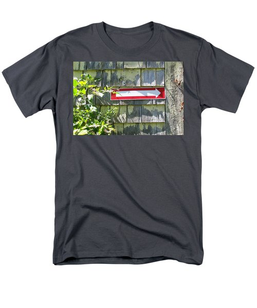 Men's T-Shirt  (Regular Fit) featuring the digital art Keep To The Right by Barbara S Nickerson