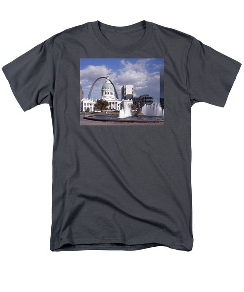 Men's T-Shirt  (Regular Fit) featuring the photograph Kiener Plaza - St Louis by Harold Rau