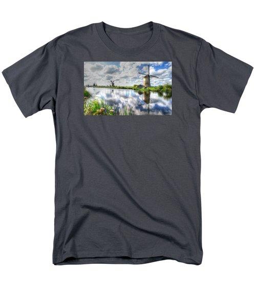 Men's T-Shirt  (Regular Fit) featuring the photograph Kinderdijk by Uri Baruch