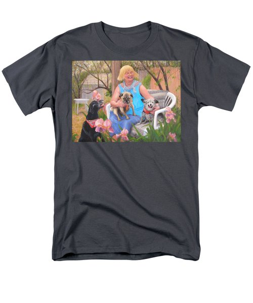 Men's T-Shirt  (Regular Fit) featuring the painting Kindred Spirits by Donelli  DiMaria