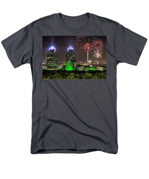 King And Queen Buildings Fireworks Men's T-Shirt  (Regular Fit) by Anna Rumiantseva