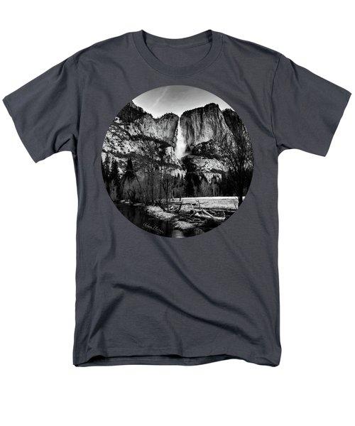 King Of Waterfalls, Black And White Men's T-Shirt  (Regular Fit) by Adam Morsa