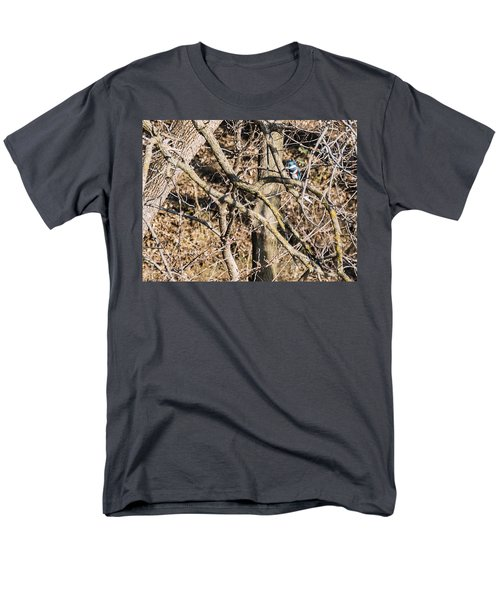Men's T-Shirt  (Regular Fit) featuring the photograph Kingfisher Hunting by Edward Peterson