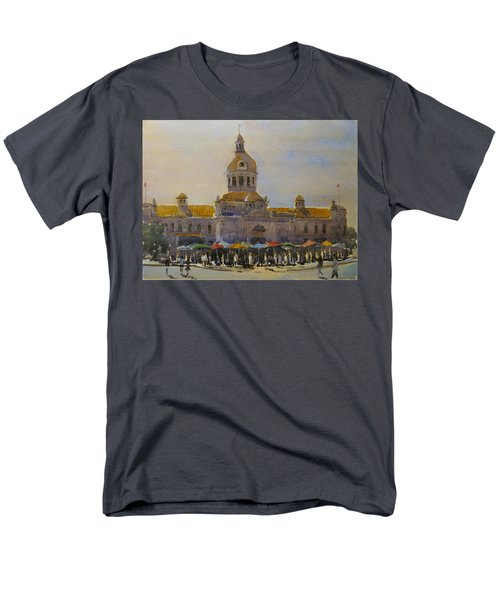 Kingston-city Hall Market Morning Men's T-Shirt  (Regular Fit) by David Gilmore