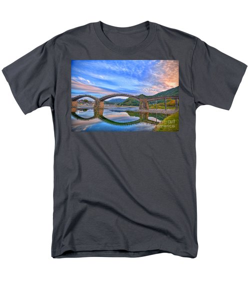 Kintai Bridge Japan Men's T-Shirt  (Regular Fit) by Rod Jellison