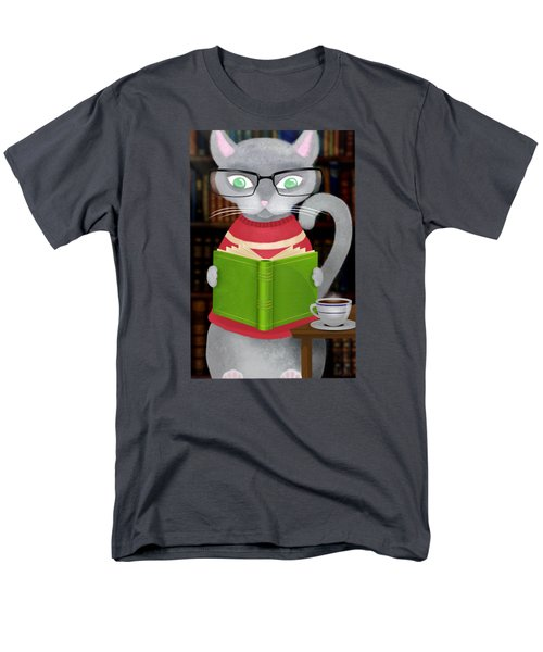 Kitty Corner Coffee And Reading Room Men's T-Shirt  (Regular Fit) by Little Bunny Sunshine