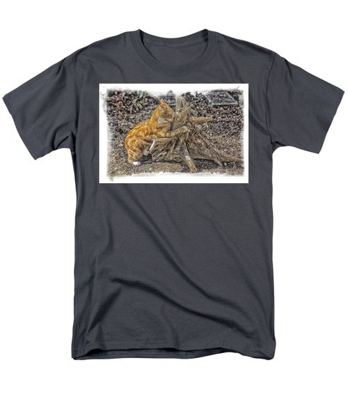 Kitty Thinking Of Mischievous Things Men's T-Shirt  (Regular Fit) by Constantine Gregory