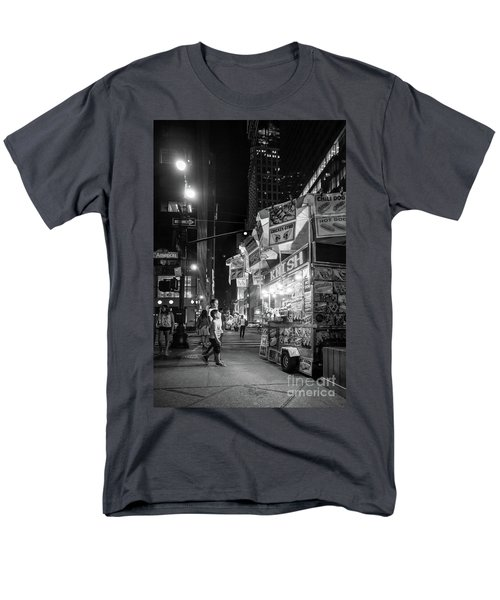 Knish, New York City  -17831-17832-bw Men's T-Shirt  (Regular Fit)