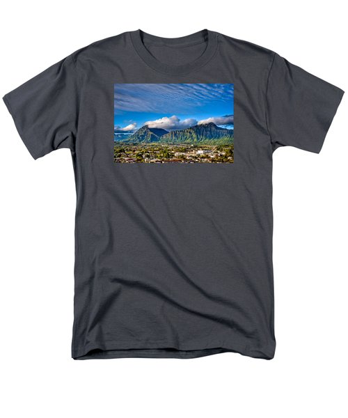 Men's T-Shirt  (Regular Fit) featuring the photograph Koolau And Pali Lookout From Kanohe by Dan McManus