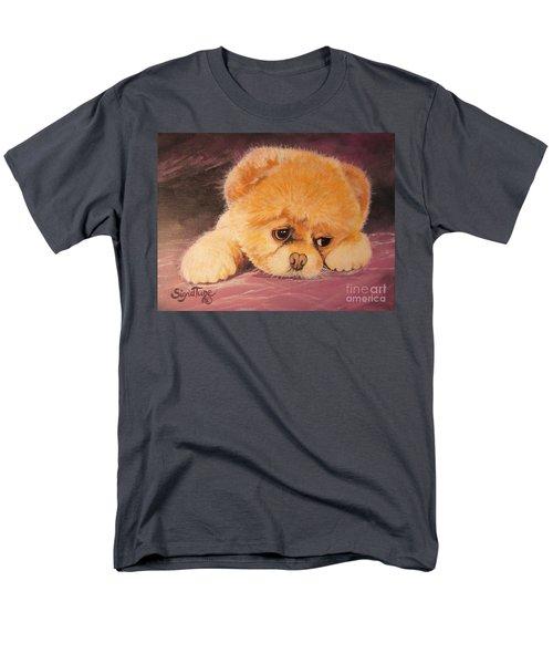 Men's T-Shirt  (Regular Fit) featuring the painting Koty The Puppy by Sigrid Tune