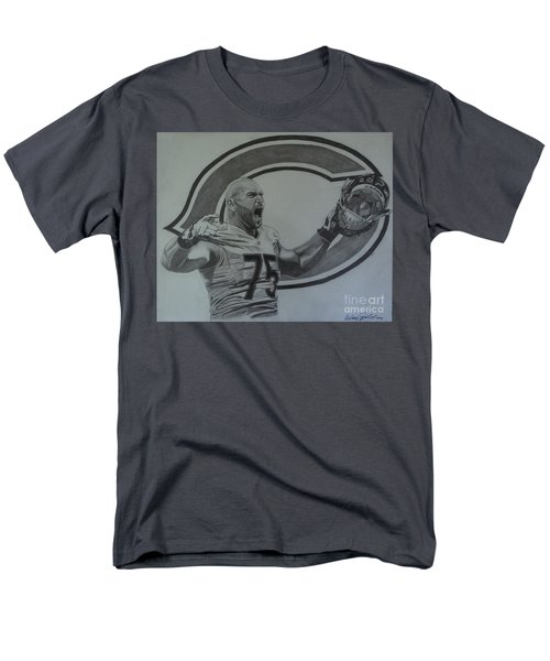 Men's T-Shirt  (Regular Fit) featuring the drawing Kyle Long Portrait by Melissa Goodrich