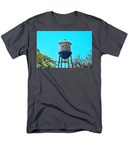Kyle Texas Water Tower Men's T-Shirt  (Regular Fit) by Ray Shrewsberry