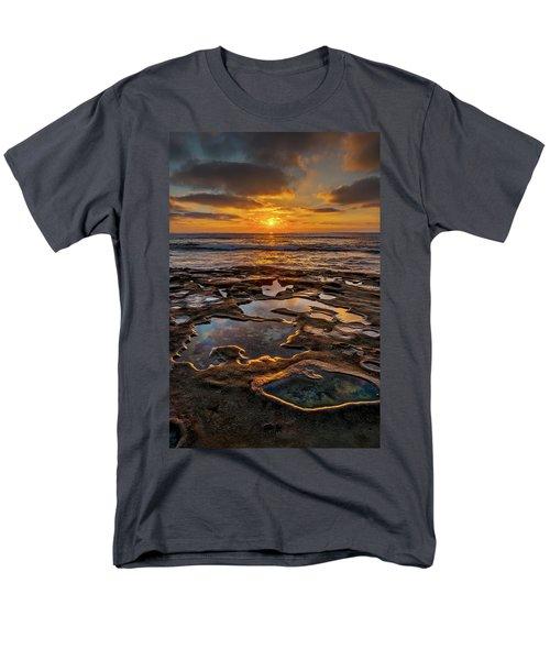 La Jolla Tidepools Men's T-Shirt  (Regular Fit) by Peter Tellone