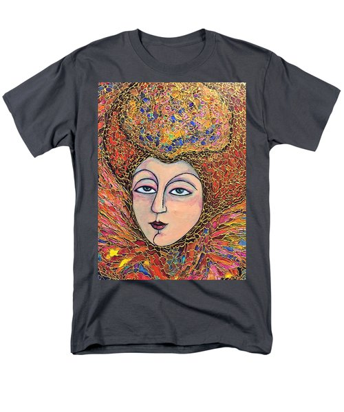 Men's T-Shirt  (Regular Fit) featuring the painting Lady-in-waiting by Rae Chichilnitsky