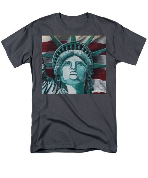 Lady Liberty Men's T-Shirt  (Regular Fit) by Stan Tenney