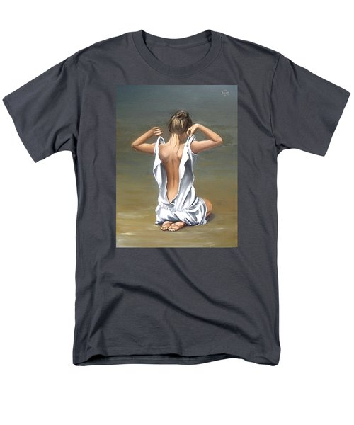 Men's T-Shirt  (Regular Fit) featuring the painting Lady by Natalia Tejera