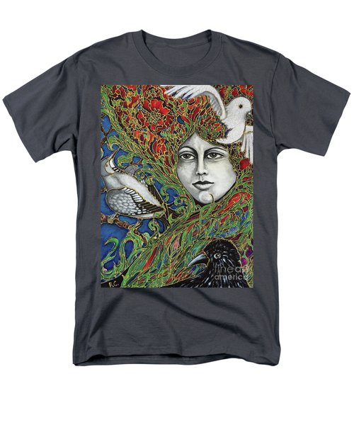 Men's T-Shirt  (Regular Fit) featuring the painting Ladybird by Rae Chichilnitsky