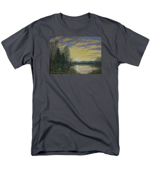 Men's T-Shirt  (Regular Fit) featuring the painting Lake Dawn by Kathleen McDermott