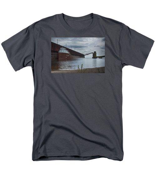 Lake Freighter Men's T-Shirt  (Regular Fit) by Dan Hefle