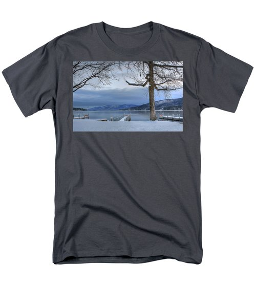 Lake George In The Winter Men's T-Shirt  (Regular Fit) by Sharon Batdorf