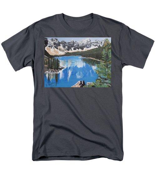 Lake Louise  Men's T-Shirt  (Regular Fit) by Francine Heykoop