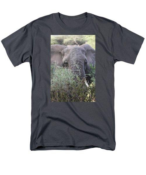 Men's T-Shirt  (Regular Fit) featuring the photograph Lake Manyara Elephant by Gary Hall