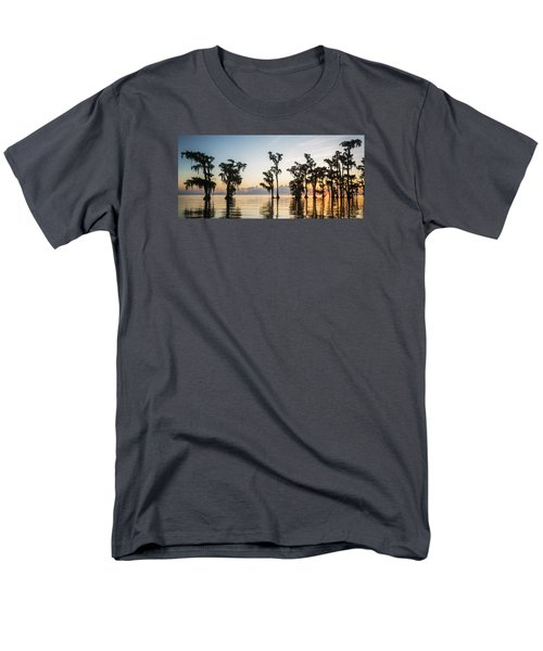 Men's T-Shirt  (Regular Fit) featuring the photograph Lake Maurepas Sunrise by Andy Crawford